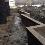 Exposed Aggregate, Sherwood Park, Retaining Wall